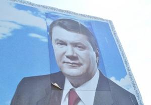 Хмельницкие военные приклеили Ющенко голову Януковича