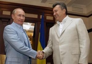 Янукович и Путин встретились в Крыму в неформальной обстановке