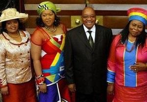 Президент ЮАР женится в пятый раз