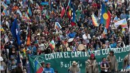 Индейцы Чили скорбят в годовщину конкисты
