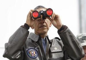 Обама посетил границу Южной Кореи и КНДР