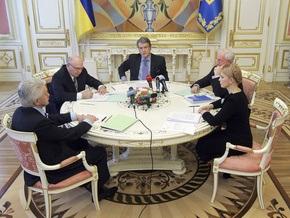 Ющенко вновь совещается с Тимошенко, Литвином и Азаровым