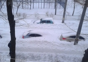 Киевские власти угрожают максимальными штрафами за неубранный снег