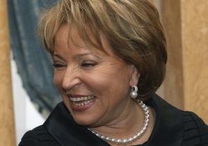 Матвиенко может стать третьим государственным лицом в РФ (обновлено)