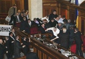 Побоище в Верховной Раде: БЮТ готовит обращение в Генпрокуратуру