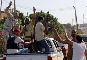 Повстанцы прорвались на территорию резиденции Каддафи