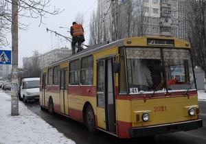 В Херсоне загорелся троллейбус