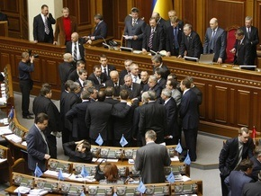 Рада вновь парализована: БЮТ блокирует начало заседания