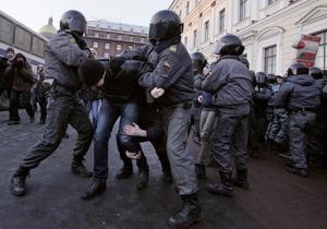 В Петербурге на митинге оппозиции задержали 370 человек
