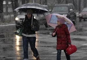 В Петербурге 1 мая пошел снег