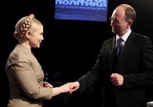 Партии Тимошенко и Яценюка довольны принятым законом о выборах, партия Кличко - нет
