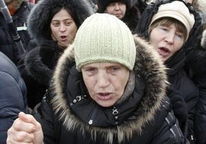 Митинг оппозиции в центре Киева завершился