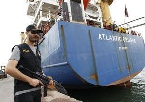 Судно украинской компании в Средиземном море перевозило шесть тысяч тонн взрывчатки