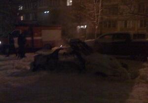 в Киеве взорвали спорткар