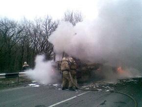 Минтранс назвал причину возгорания автобуса в Донецкой области