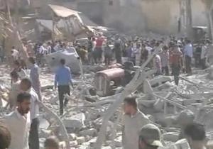 Авиация Асада разбомбила подконтрольный повстанцам город