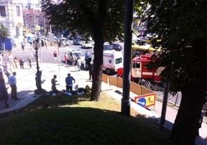 В центре Киева прогремел взрыв, есть пострадавшие