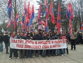 В Крыму участники митинга потребовали союза с Россией и Беларусью