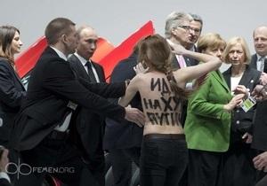 Активистки FEMEN совершили топлес-атаку на Путина