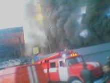 В Киеве горел склад Киевречпорта
