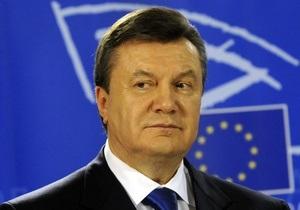 Янукович: Через год Украина получит безвизовый режим с ЕС