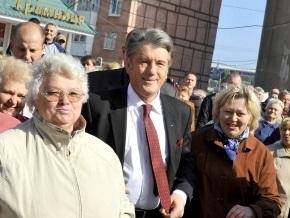 В Запорожье объяснили, зачем завесили русскоязычные надписи перед приездом Ющенко