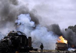 Авиация НАТО разбомбила здание разведки сил Каддафи