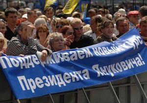 Опрос: Более половины украинцев положительно оценивают действия Януковича