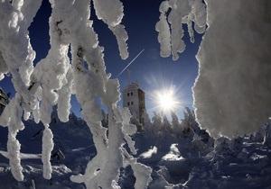 Прогноз погоды: в Карпатах 20 градусов мороза, в Ялте - семь тепла