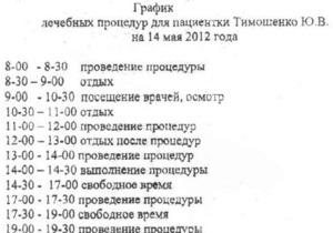 В ГПС утверждают, что обнародовать график лечения Тимошенко их вынудила провокация ее защиты