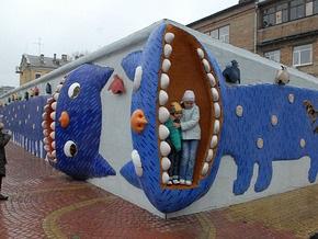 На Пейзажной аллее в Киеве открыли детский сквер