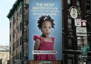 Власти Нью-Йорка назвали оскорбительной рекламу против абортов среди чернокожих