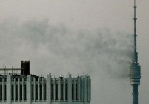 На Останкинской башне произошел пожар