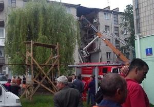 В Луцке обрушился пятиэтажный дом