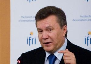 Янукович в Париже: Мы никогда не откажемся от амбиций стать членом Евросоюза