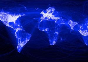 Facebook создал мировую карту активности пользователей социальной сети