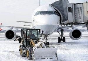 Аэропорт Борисполь очистили от снега. Началась регистрация пассажиров на рейсы