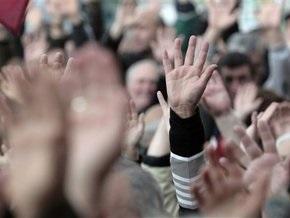 Грузинская оппозиция вышла на многотысячный митинг