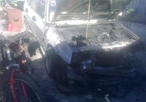 В Одессе неизвестные сожгли машину Дарта Вейдера