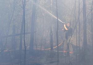 В Днепропетровской области выгорело 300 га леса, принадлежащего Минобороны