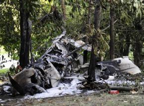 В центре Кракова легкомоторный самолет упал в парк