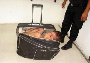 В Мексике заключенный попытался сбежать из тюрьмы в чемодане своей девушки