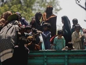 Пакистанский город, где проходит операция против талибов, покинули 40 тыс. жителей
