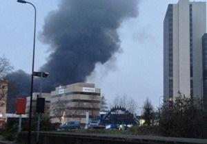 В центре Лондона упал вертолет