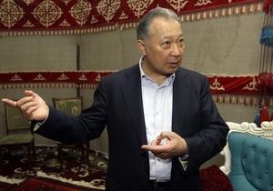 Бакиев назвал условия своего ухода в отставку