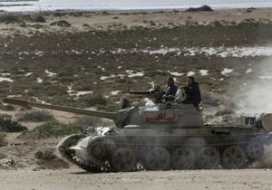 Ливийские повстанцы отступают из Рас-Лануфа