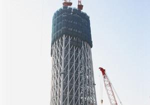 В Японии завершилось строительство самой высокой в мире телебашни