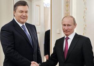 Путин пожелал Януковичу дальнейших успехов в государственной деятельности
