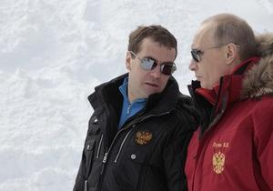Медведев и Путин покатались на лыжах в Сочи