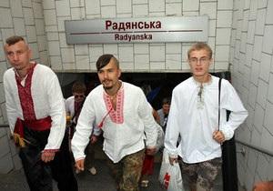 В Харькове прошло шествие в вышиванках